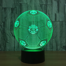 Football Manchester Club 3D Optical Illusion Lamp - 3D Optical Lamp