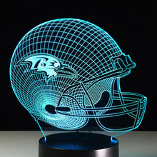 Baltimore Ravens 3D Optical Illusion Lamp - 3D Optical Lamp