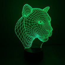 Realistic Panther Bust 3D Optical Illusion Lamp - 3D Optical Lamp
