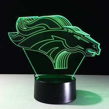 3D Optical Denver Broncos Illusion Lamp - 3D Optical Lamp
