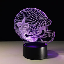 New Orleans Saints 3D Optical Illusion Lamp - 3D Optical Lamp
