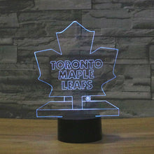 Maple Leafs 3D Optical Illusion Lamp - 3D Optical Lamp