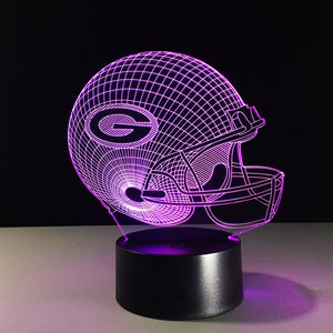 Green Bay Packers 3D Optical Illusion Lamp - 3D Optical Lamp