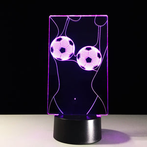 Football Girl Underwear 3D Optical Illusion Lamp - 3D Optical Lamp
