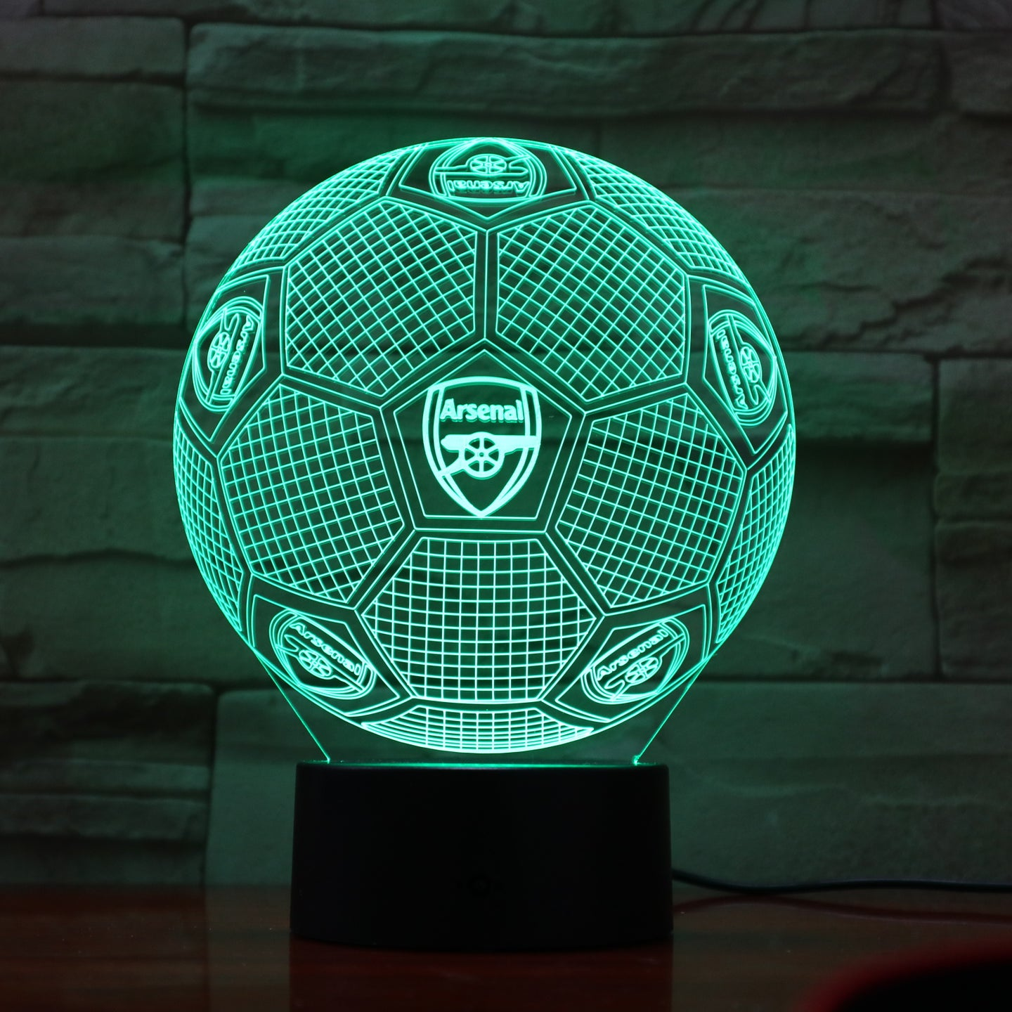 Football Arsenal Club 3D Optical Illusion Lamp - 3D Optical Lamp