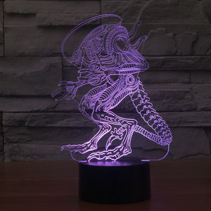Alien Inspired Xenomorph 3D Optical Illusion Lamp - 3D Optical Lamp