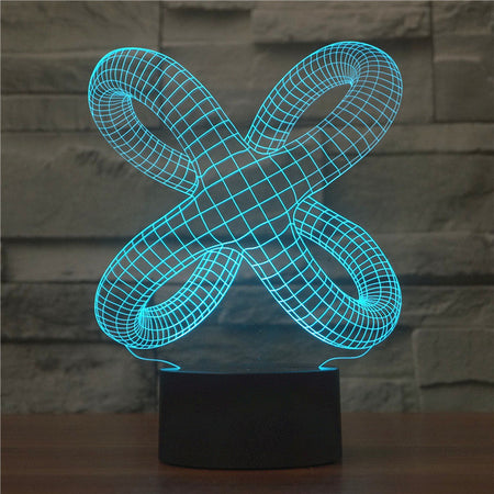 Abstract Knot Legs 3D Optical Illusion Lamp - 3D Optical Lamp