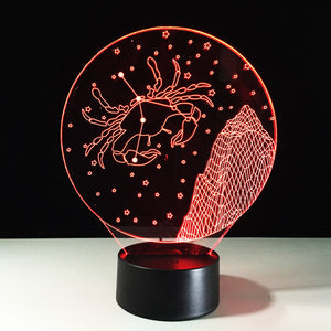 Cancer Horoscope 3D Optical Illusion Lamp - 3D Optical Lamp