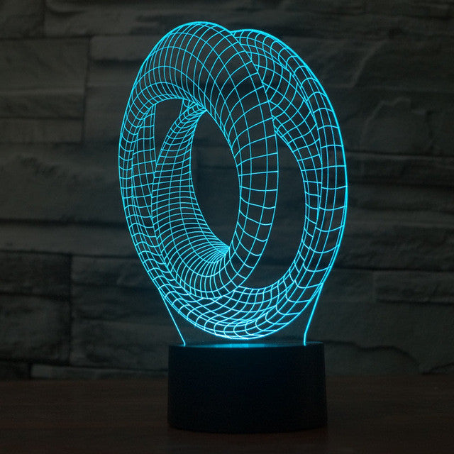 Abstract Impossible Spiral 3D Optical Illusion Lamp - 3D Optical Lamp