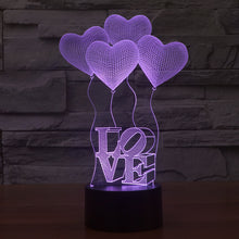 Celebratory Love Sculpture 3D Optical Illusion Lamp - 3D Optical Lamp