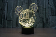 Mickey Mouse 3D Optical Illusion Lamp - 3D Optical Lamp