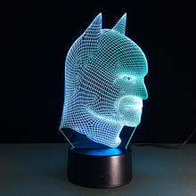 DC Comics Inspired Realistic Batman Bust 3D Optical Illusion Lamp - 3D Optical Lamp