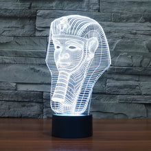 Egyptian Pharaoh 3D Optical Illusion Lamp - 3D Optical Lamp