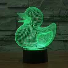 Adorable Rubber Ducky 3D Optical Illusion Lamp - 3D Optical Lamp