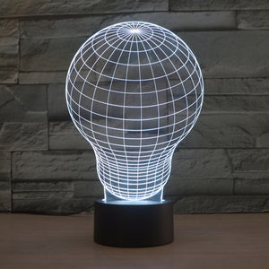 Traditional Light Bulb 3D Optical Illusion Lamp - 3D Optical Lamp
