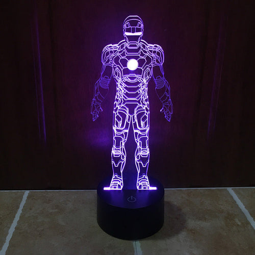Marvel Inspired Iron Man 3D Optical Illusion Lamp - 3D Optical Lamp