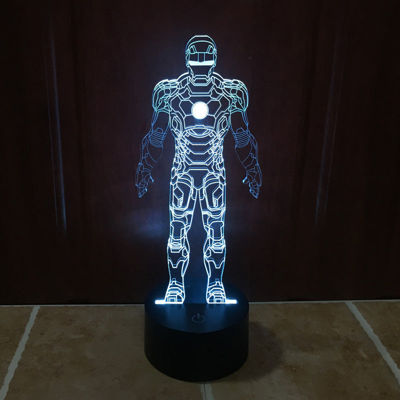 ... Marvel Inspired Iron Man 3D Optical Illusion Lamp   3D Optical Lamp ...