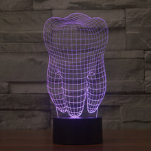 Realistic Human Tooth Sculpture 3D Optical Illusion Lamp - 3D Optical Lamp