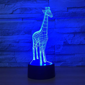 Adorable Giraffe 3D Optical Illusion Lamp - 3D Optical Lamp
