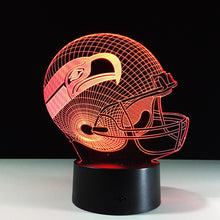 Seattle Seahawks Inspired 3D Optical Illusion Lamp