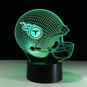 NFL Tennessee Titans  Inspired 3D Optical Illusion Lamp