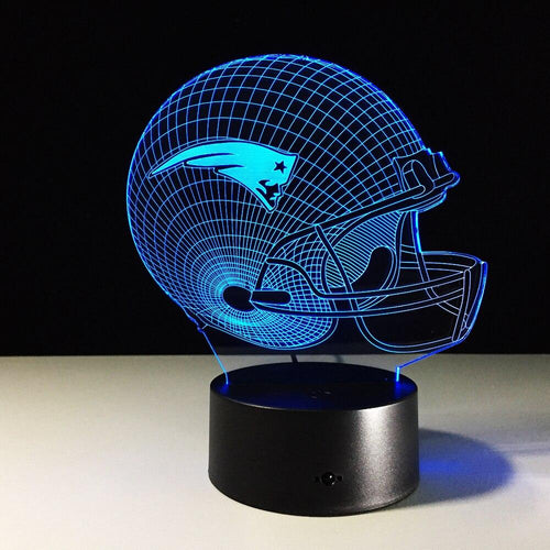 New England Patriots 3D Optical Illusion Lamp