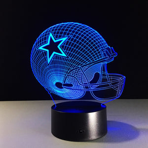 NFL Dallas Cowboys  Inspired 3D Optical Illusion Lamp