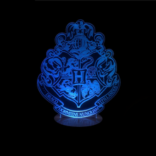 Harry Potter Inspired Hogwarts Crest 3D Optical Illusion Lamp - 3D Optical Lamp