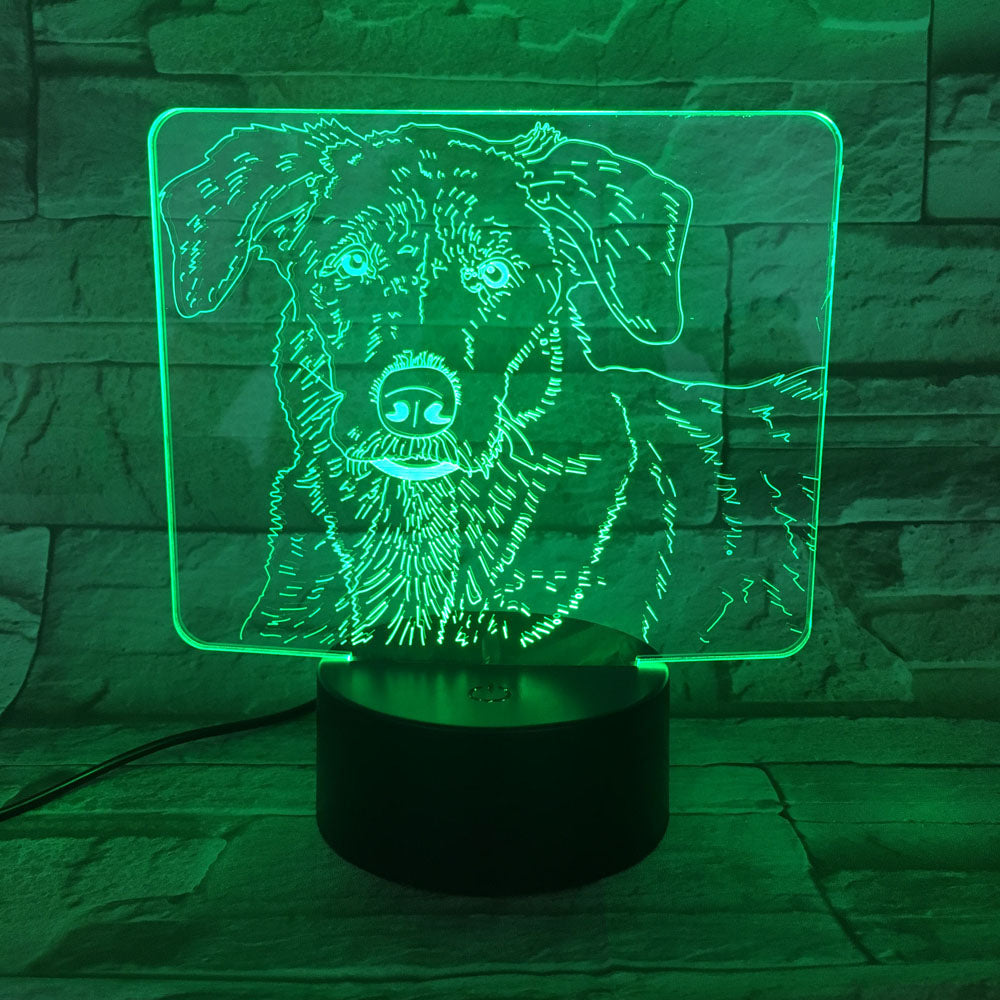 Lovely Golden Retriever 3D Optical Illusion Lamp - 3D Optical Lamp