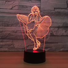 Marilyn Monroe 3D Optical Illusion Lamp - 3D Optical Lamp
