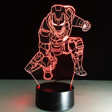 Marvel Inspired Squating Iron Man 3D Optical Illusion Lamp - 3D Optical Lamp