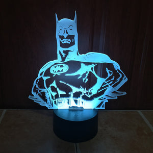 DC Comics Inspired Batman Pose 3D Optical Illusion Lamp - 3D Optical Lamp