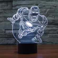 Marvel Inspired Flying Iron Man 3D Optical Illusion Lamp - 3D Optical Lamp