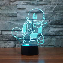 Pokemon Inspired Squirtle 3D Optical Illusion Lamp - 3D Optical Lamp