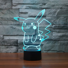 Pokemon Inspired Pikachu 3D Optical Illusion Lamp - 3D Optical Lamp