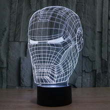 Marvel Inspired Iron Man Head Bust 3D Optical Illusion Lamp - 3D Optical Lamp