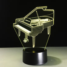 Piano 3D Optical Illusion Lamp - 3D Optical Lamp