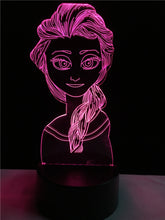 Princess Aisha touch 3D colorful Nightlight lamp - 3D Optical Lamp