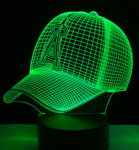 A Touch 3D  Peaked Cap Baseball Colorful Nightlight - 3D Optical Lamp