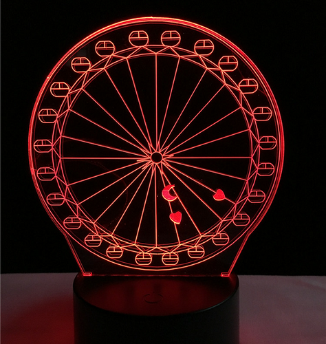 Ferris wheel touch 3D colorful Nightlight  lamp - 3D Optical Lamp