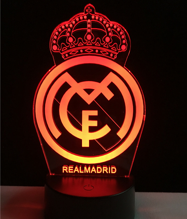 Real madrid logo logo touch 3d colorful nightlight lamp 3d real madrid logo logo touch 3d colorful nightlight lamp 3d optical lamp voltagebd Images