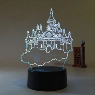 City of Sky 3D Optical Illusion Lamp