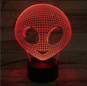 Alien 3D Optical Illusion Lamp - 3D Optical Lamp
