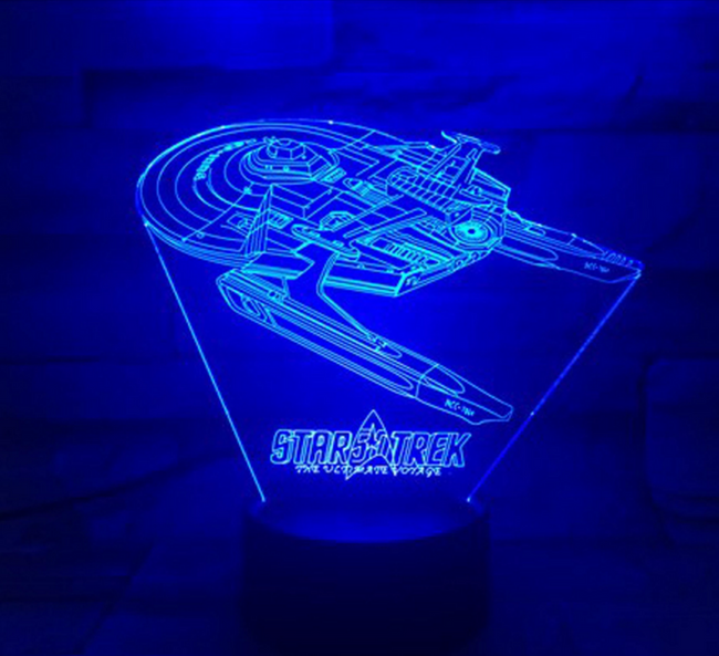 Star Trek 3D Optical Illusion Lamp