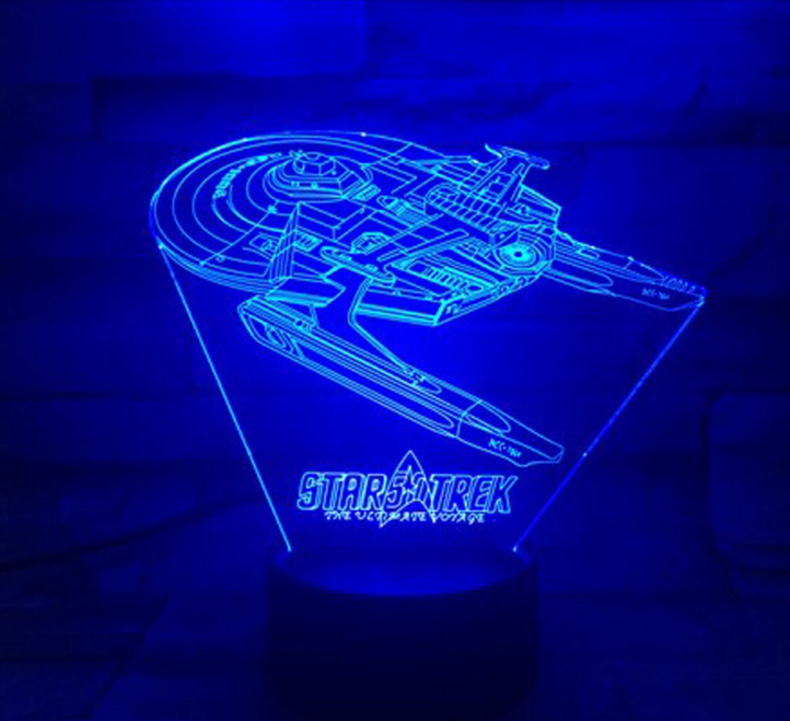 Star Trek 3D Optical Illusion Lamp - 3D Optical Lamp