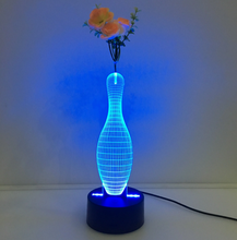 Bowling 3D Vase Flower Arrangement Stereo Lamp - 3D Optical Lamp