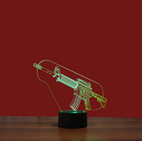 3D Army Creative Visual Lamp - 3D Optical Lamp
