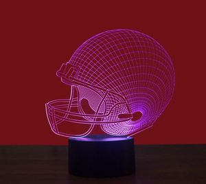 Football Helmet 3D Light Colorful Lights Creative Lamp - 3D Optical Lamp