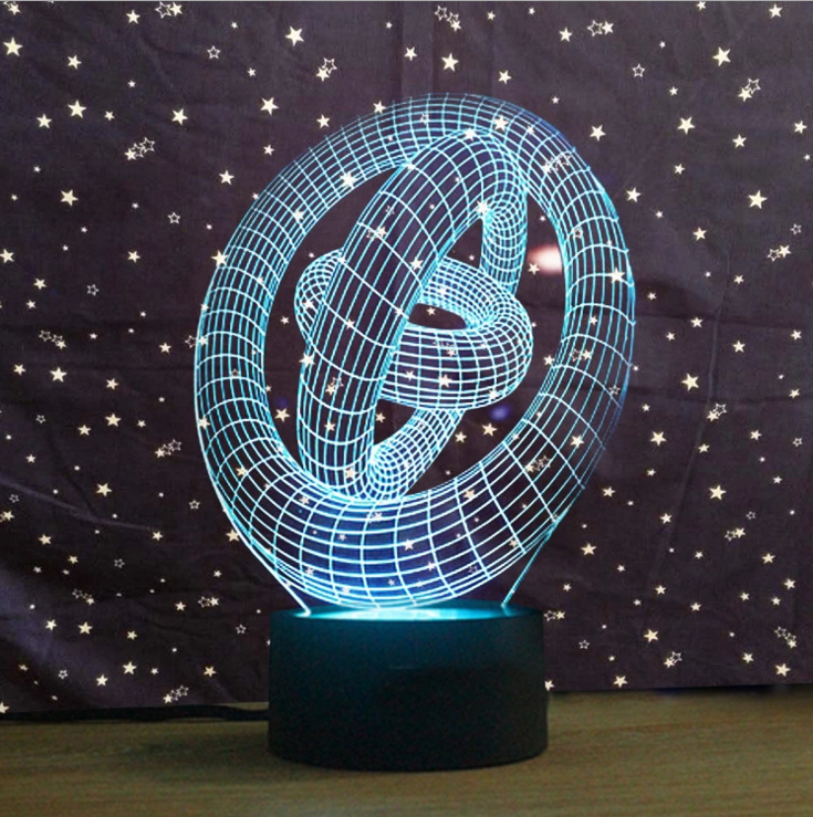 Abstract 3D Art Creative Vision Lamp Night Light - 3D Optical Lamp