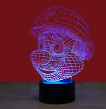 Super Mario 3D Nightlight 3D Visual Creative Lamp - 3D Optical Lamp
